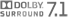 Dolby Surround 7.1 logo