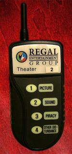Regal Guest Response System Device - Photo Provided by Regal Cinemas