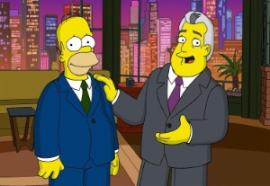 On July 24, Homer Simpson will appear with Jay Leno on The Tonight Show to promote The Simpsons Movie, in theaters everywhere July 27. (Graphic: Business Wire)