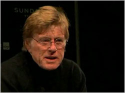 Robert Redford Addresses the Audience at the Opening of the Sundance Film Festival