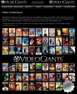 VideoGiants Storefront