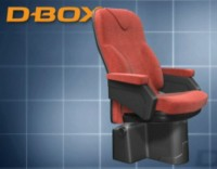 Concept photo of D-BOX equipped theater seat