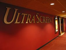 Entrance to UltraScreen 1 at the Marcus Majestic Cinema in  Brookfield, WI. Photo copyright 2007 SVJ Designs, LLC. All Rights  Reserved.