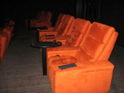 Seating at the Gold Class Cinemas in South Barrington, Illinois