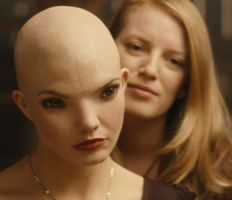 DELPHINE CHANEAC as Dren and SARAH POLLEY as Elsa Kast in SPLICE