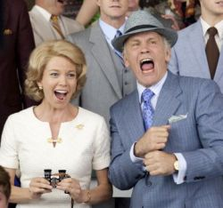 Diane Lane and John Malkovich in Secretariat. Photo Copyright Disney Enterprises, Inc. All Rights Reserved.