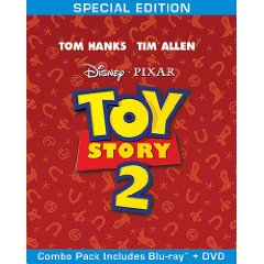 Toy Story 2 Blu-ray/DVD Combo Cover Art