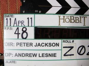 Slate used for the shooting of The Hobbit