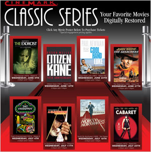 classic movies at select cinemark theaters this summer
