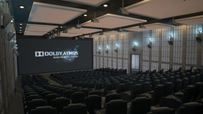 Dolby Atmos-equipped theater auditorium
