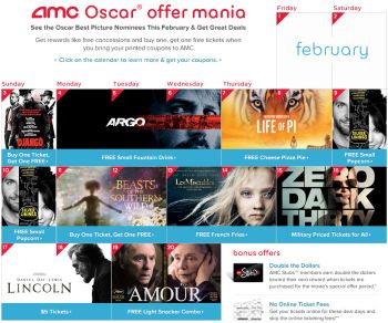 Screenshot of AMC web site
