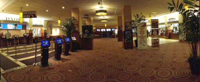 Panoramic lobby view of Marcus North Shore Cinema