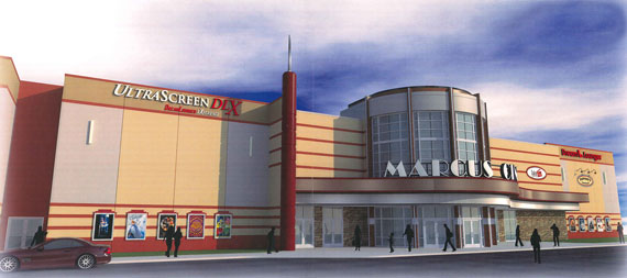 Rendering of new movie theater