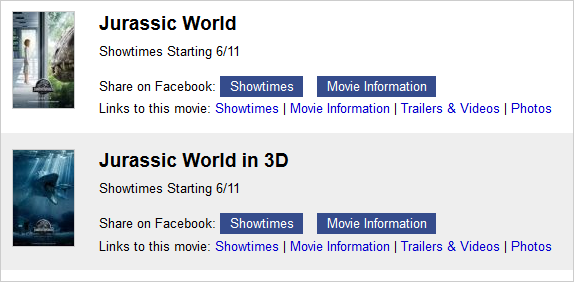 Shareable Links for Jurassic World - Playing at the Cinemark Tinseltown USA - El Paso