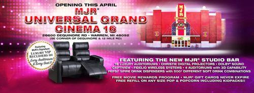 warren mi mjr universal grand cinema 16 expected to open