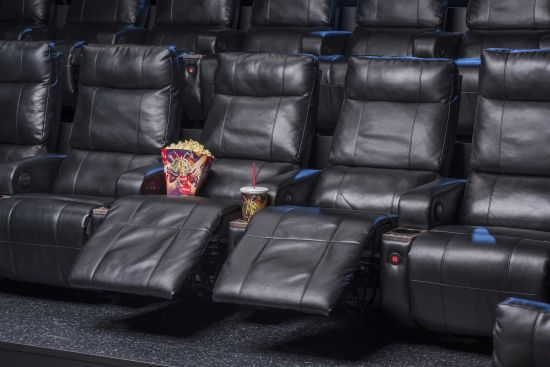 Photo of Cinemark's Luxury Lounger powered recliners