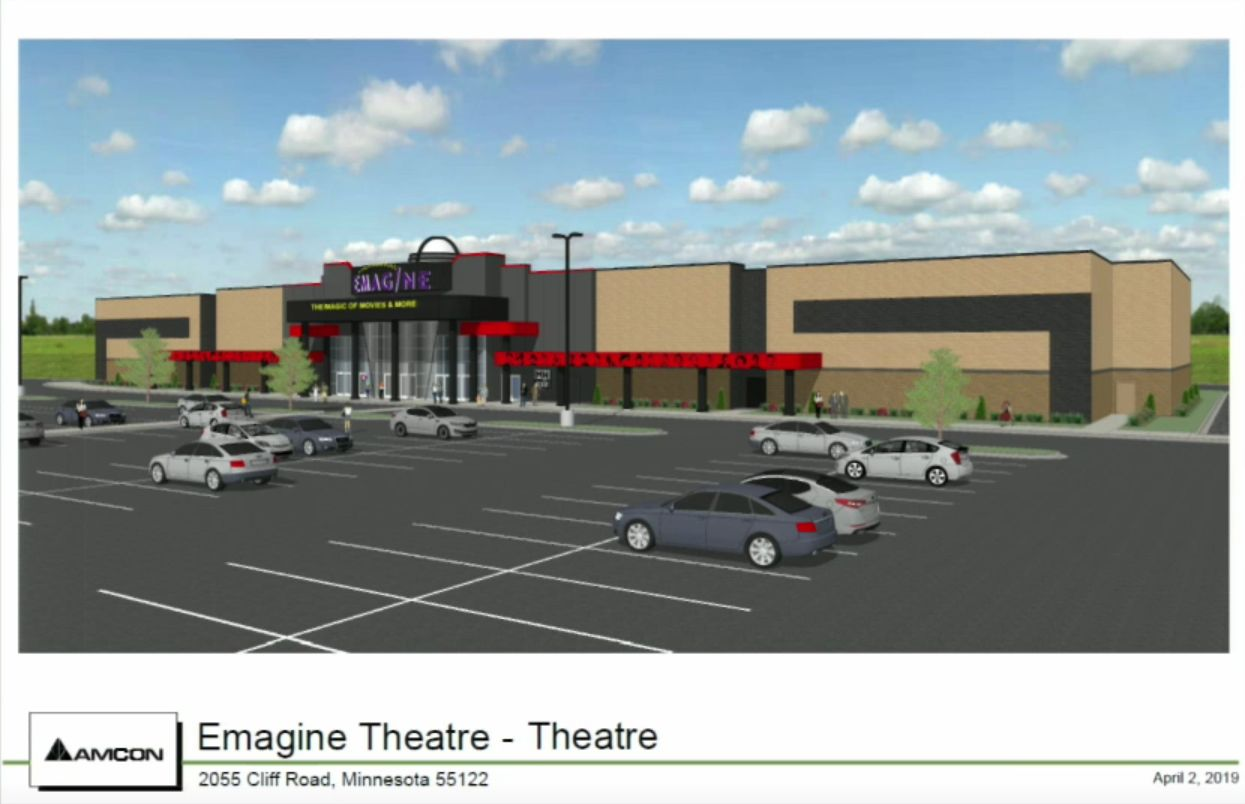 Rendering of Proposed Theater Exterior