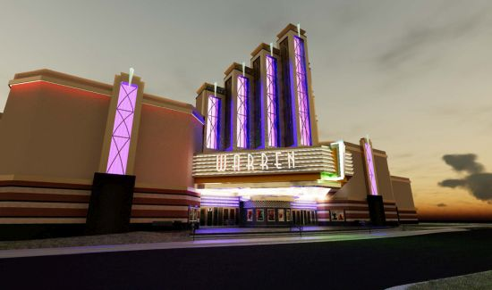 Rendering of the theater building