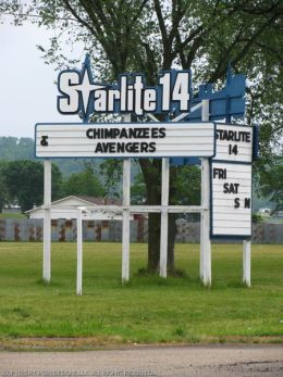 Map And Directions For Starlite 14 Drive In Theaters The Marquee The Bigscreen Cinema Guide