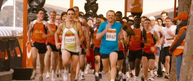 Hank Azaria and Simon Pegg square off during the marathon